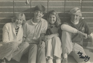 Hanging out in the quad at CdM High School 1977