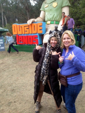 Karen Olan and myself dressed for the San Francisco summer at Outside Lands