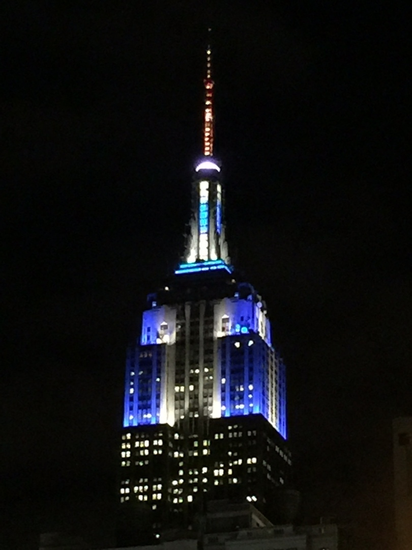 Empire State Building ...Christmas on Top, Hanukkah on Bottom