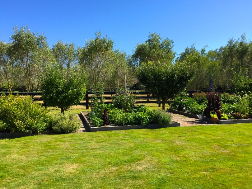 Herb garden at Upton Oaks