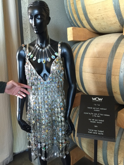 Dress made out of spoons at Brancott Winery