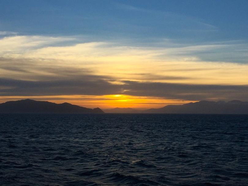 Back at sea