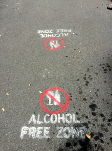 No Alcohol Zone