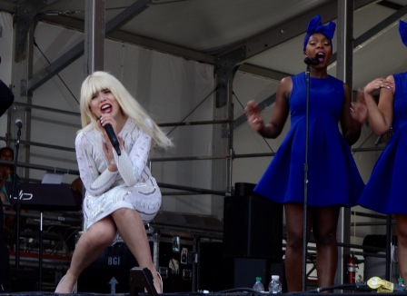 Paloma Faith came all the way from England to perform