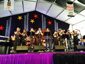 Trumpet Mafia in the Jazz Tent
