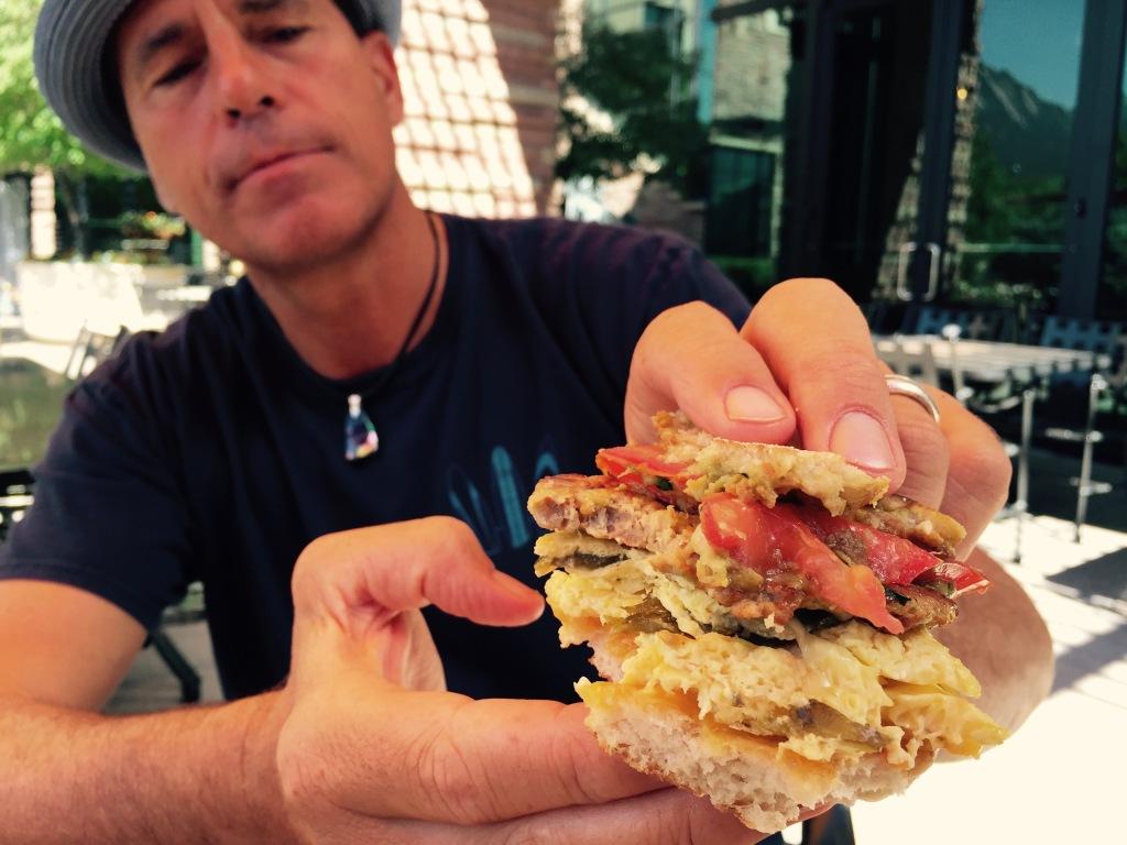 Breakfast sandwich at St. Julien Hotel