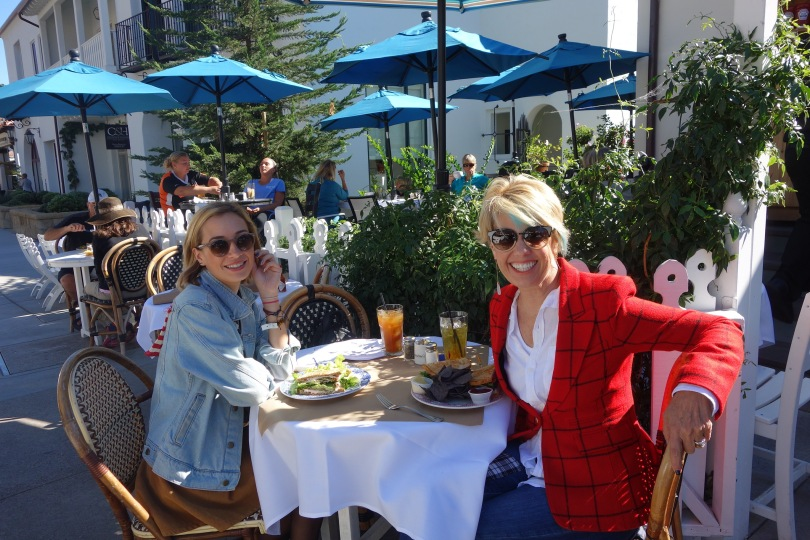 Lunch at Jeannine's Gourmet Food Hall in Montecilo, California
