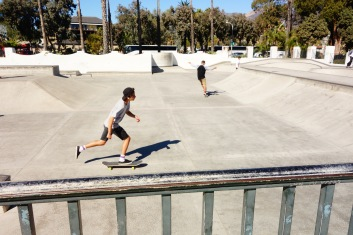 Skate ramp on the beach