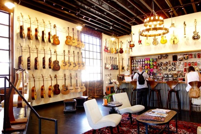 Guitar shop in the Funk Zone