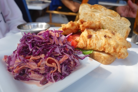 Grouper sandwich at Sip Sip