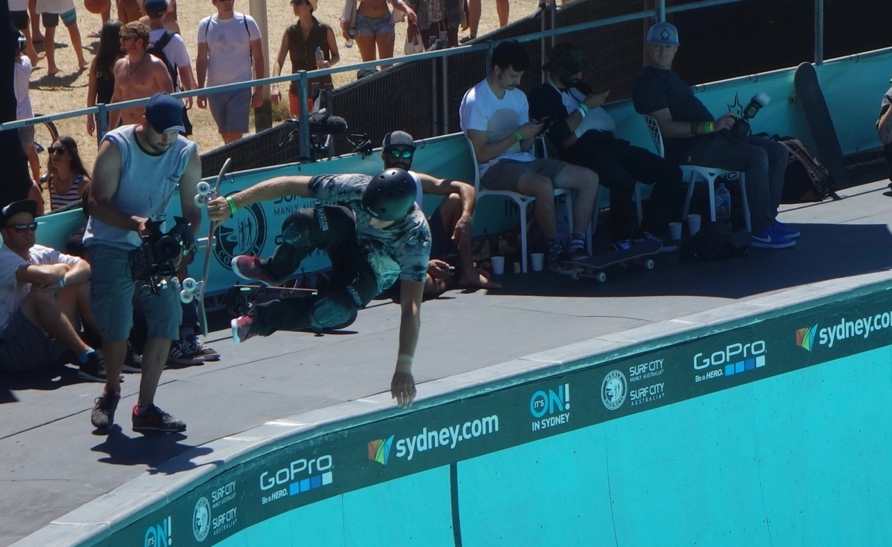 Pro Skateboarder in Manly, Australia at Australian Open