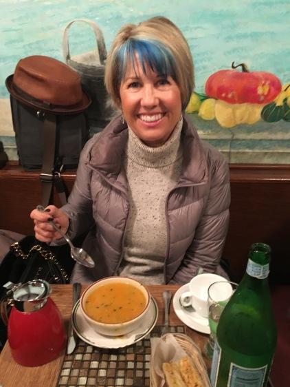 Minestrone soup at Via Quadronno