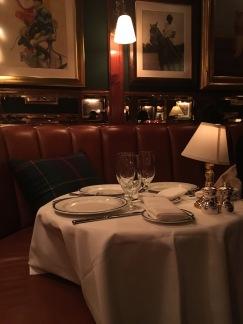 Table setting at the Polo Bar