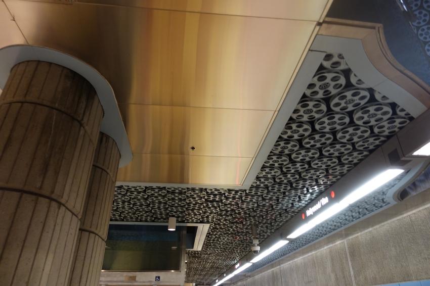 old film reels in the ceiling