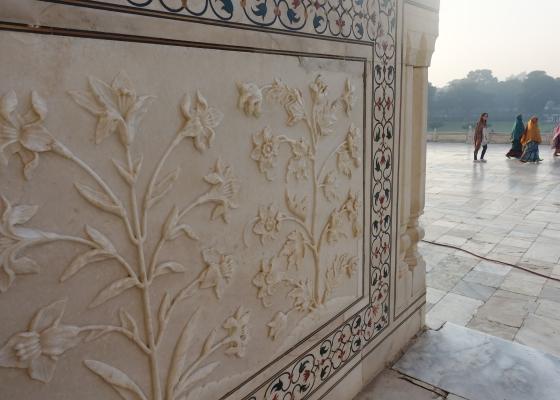 carved marble Taj Mahal