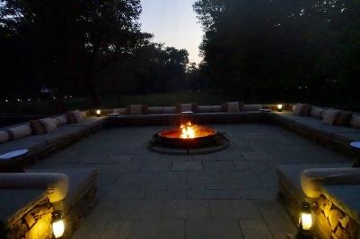 Aman I Khas fire pit
