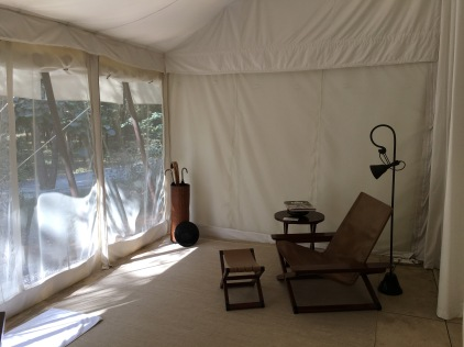 chair in Aman I Khas tent India