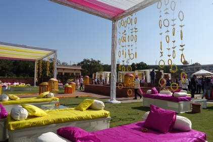 Decorations at the Mehendi