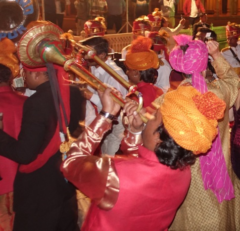 Band at wedding Jaipur City Palace