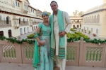 Couple in Indian clothing