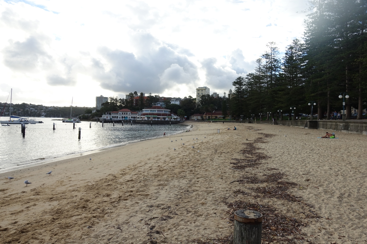 Rainy day Manly Wharf Australia