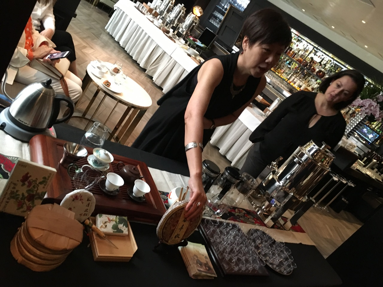 Pu-Erh tea tasting at Hotel Bel Air