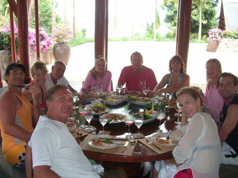 Lunch at our villa in Phuket