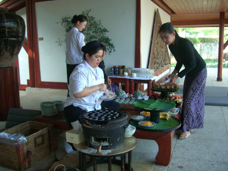 Preparing meals in Thailand