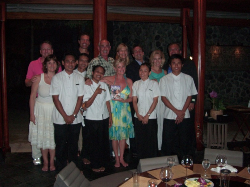 The gang and our lovely staff in Thailand