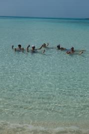 floating fun in Bahamas