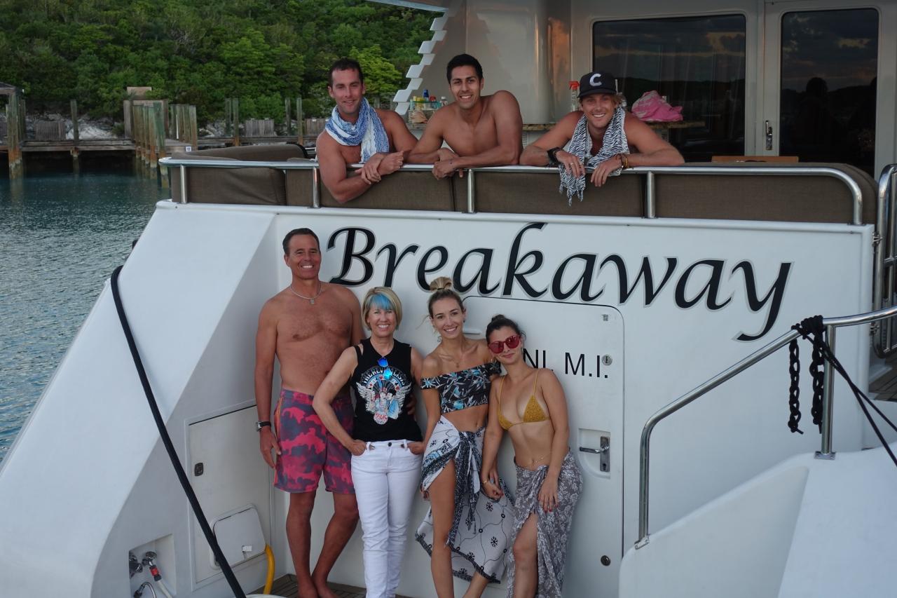 Breakaway Motor Yacht with the Bahomies