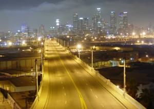 6th St. Bridge before LED lighting