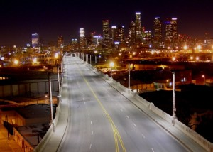 6th St. Bridge after LED lighting