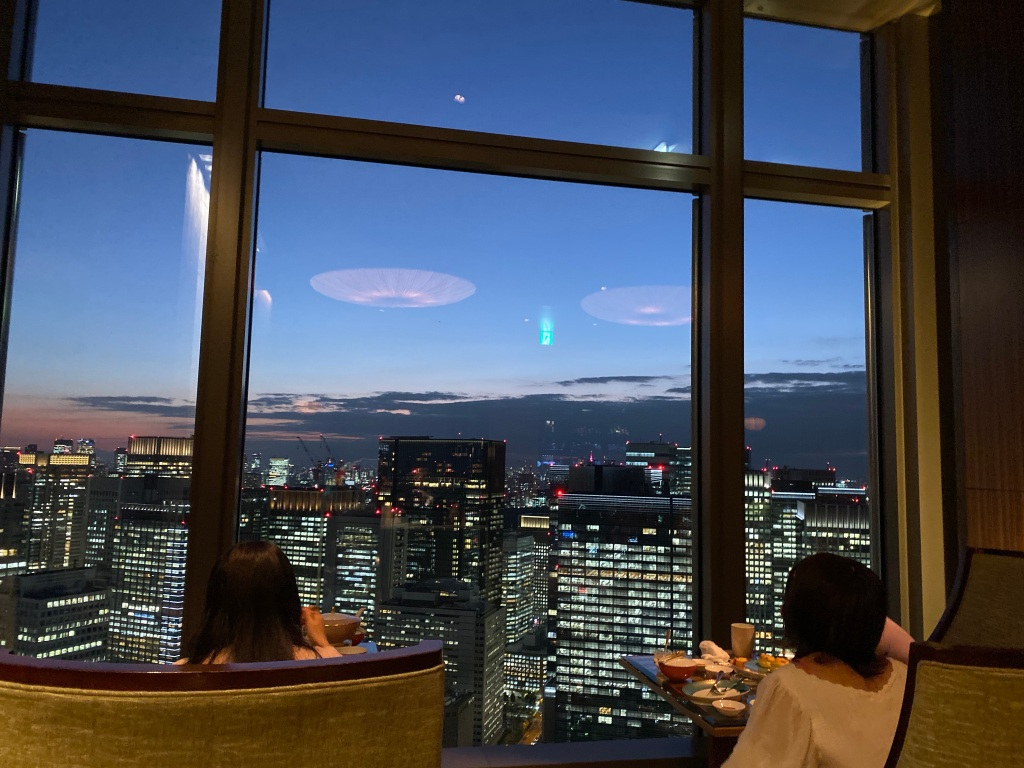 View from the Mandarin Oriental in Tokyo